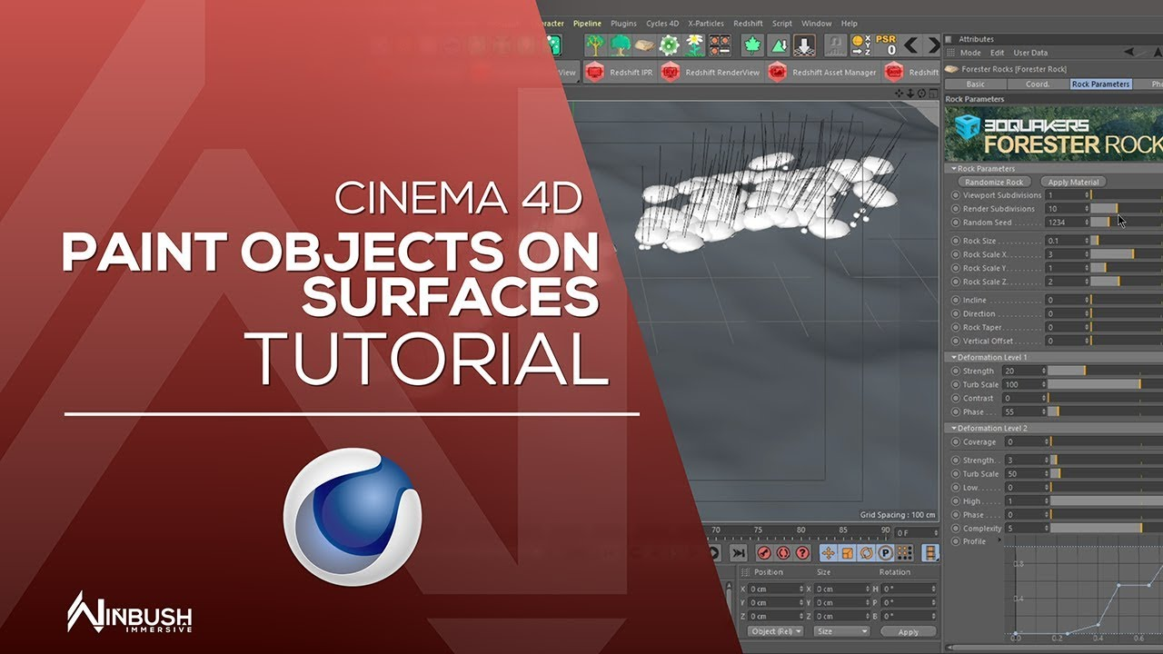 Painting objects on surfaces / CINEMA 4D on Behance