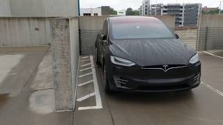 Can My Tesla Model X Falcon Wing Door Open  This Close To A Concrete Wall???