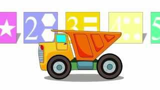 Cartoon about a tip truck. Learning numbers, shapes and colors. Cars for children
