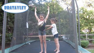 Kid Sister Spots Standing Back Tuck (WK 228) | Bratayley