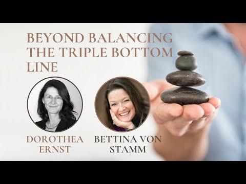 Beyond balancing the triple bottom line