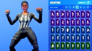 WHISTLE WARROIR SKIN SHOWCASE WITH ALL FORTNITE DANCES & EMOTES