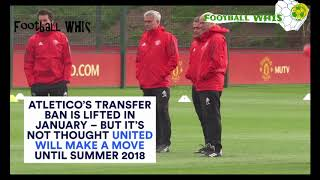 Football WHIS :Latest 2017 TRANSFER news Part 02 on Griezmann and Mourinho future, Man City and Utd