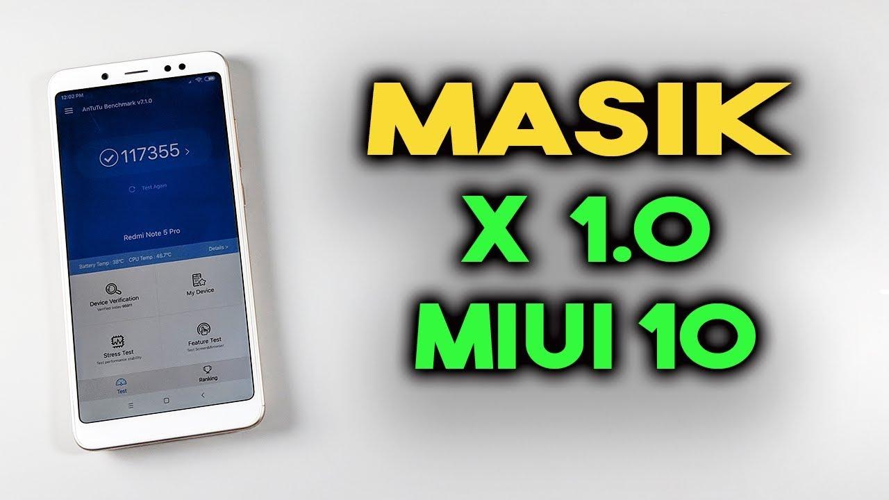 MASIK X 1.0 MIUI 10 For Redmi Note 5 Pro