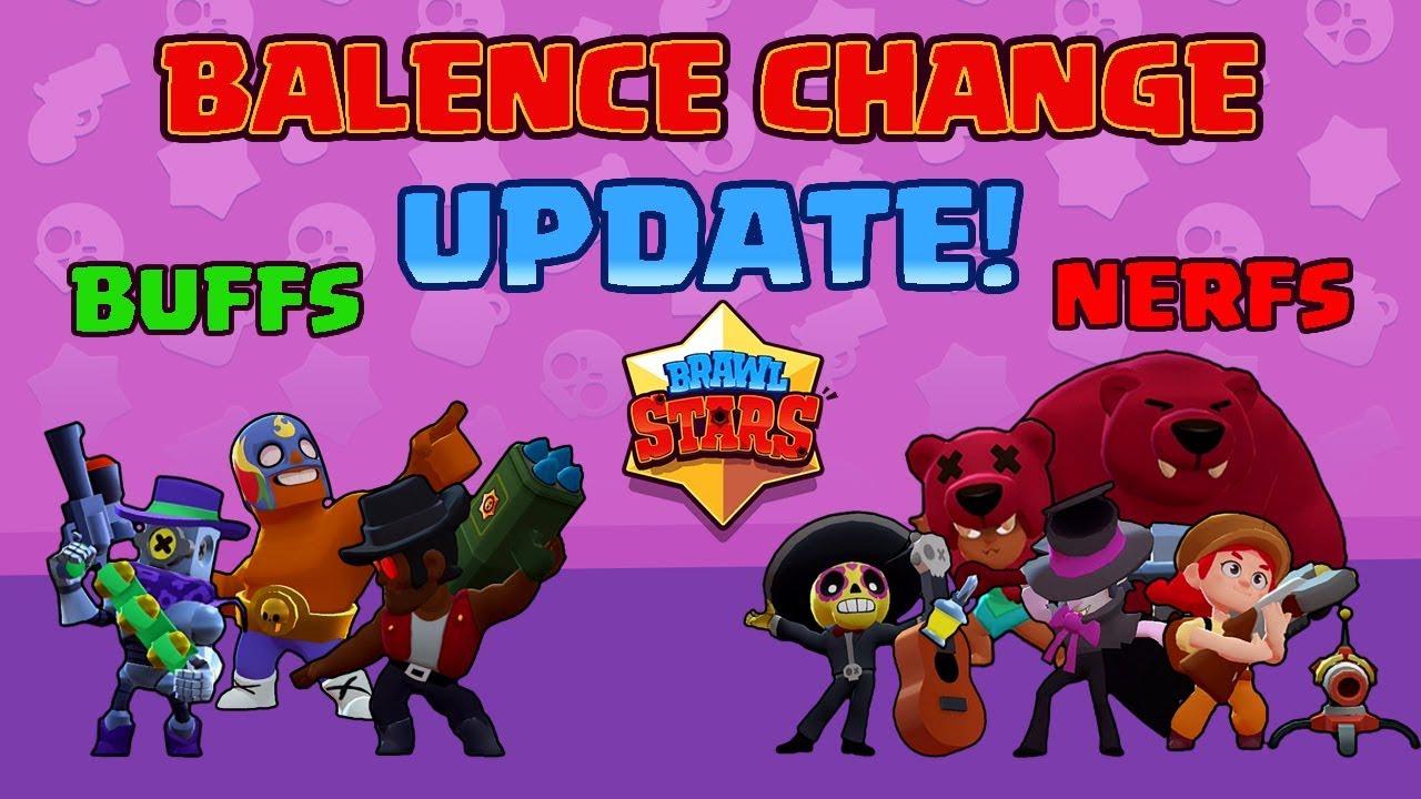 brawl stars update  balance changes  youtube