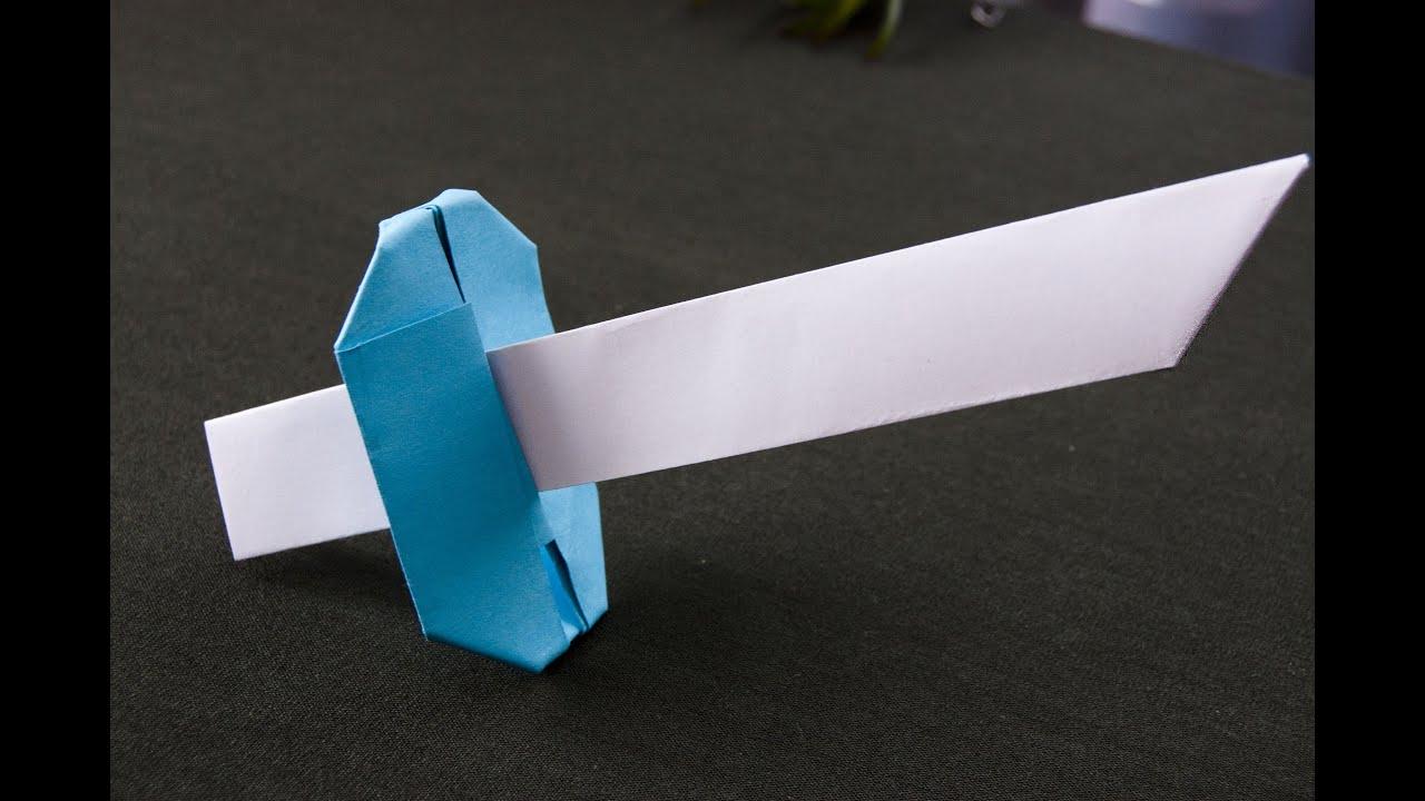 Easy origami sword - YouTube