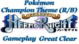Rhythm Hunter: Harmo Knight Gameplay Pokemon Champion Theme (Red/Blue) (GREAT CLEAR)