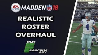 Madden 18 Realistic Roster Overhaul 2000 Players Edited