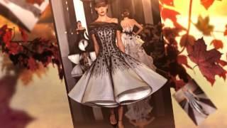 Самые красивые черно-белые платья 2015-2016