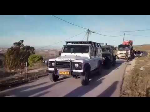 """תיעוד: רכב קציני מת""""ק מנגח רכב בחוות גלעד"""