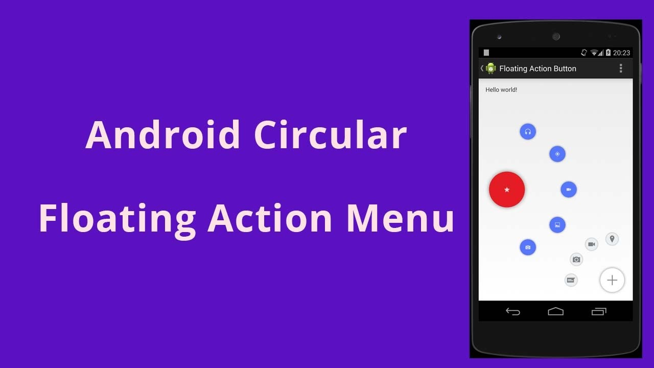 Android Circular Floating Action Menu Example Demo