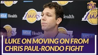 Lakers Nation Interview: Luke Walton On How The Team Will Move Forward From Chris Paul & Rondo Fight