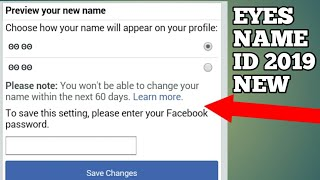 How to make Eyes symbkls facebook account