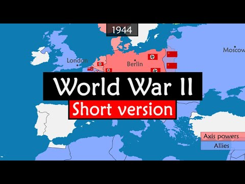 World War II - origins, events and consequences summarized on a map