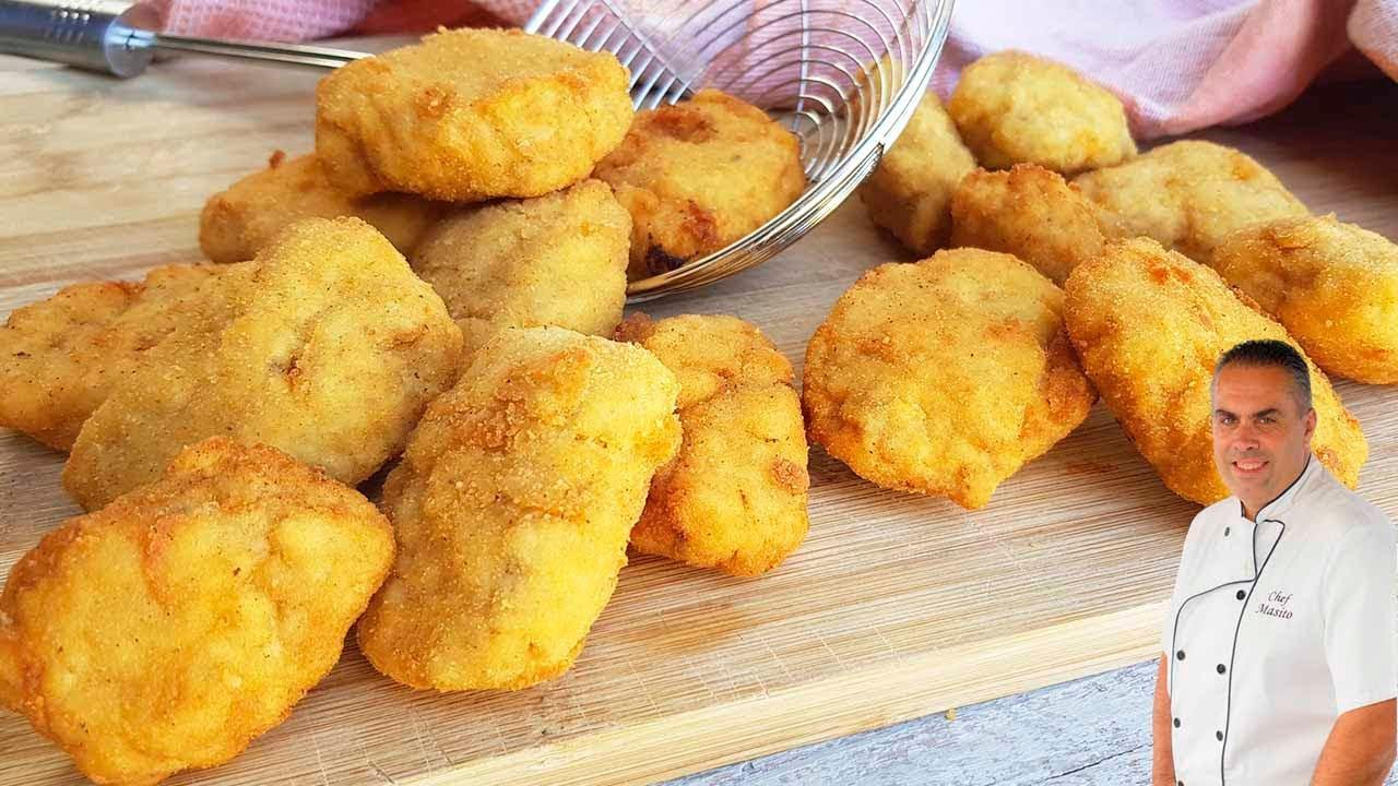 Estos Nuggets de pollo caseros son los que más me piden en casa ¡super jugosos y muy fáciles!😍
