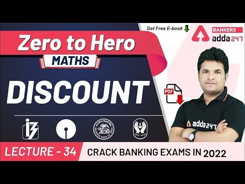 Discount | Maths | Adda247 Banking Classes | Lec-34