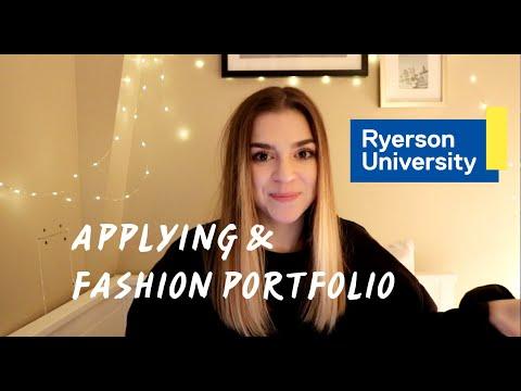 Applying To Ryerson Fashion Portfolio Youtube