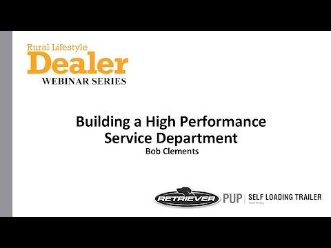 [Webinar] Building a High Performance Service Department
