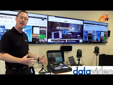 One Operator Portable Live Video Production Kit | Datavideo HS-1500T Mobile Cast