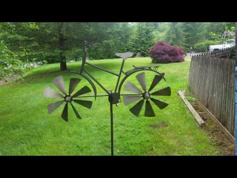 Bicycle Wind Spinner      Kinetic Windmill                Garden Whirligig