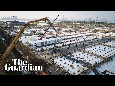 Timelapse footage captures Wuhan hospital construction — video