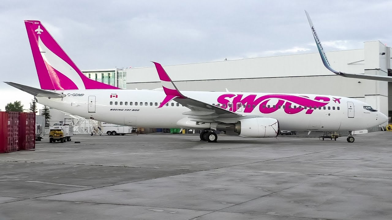 Swoop Airlines First Boeing   At Calgary Airport