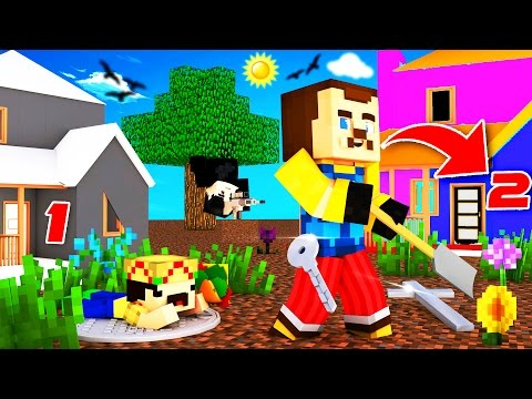 Minecraft - HELLO NEIGHBOR - SECRET SECOND HOUSE?!