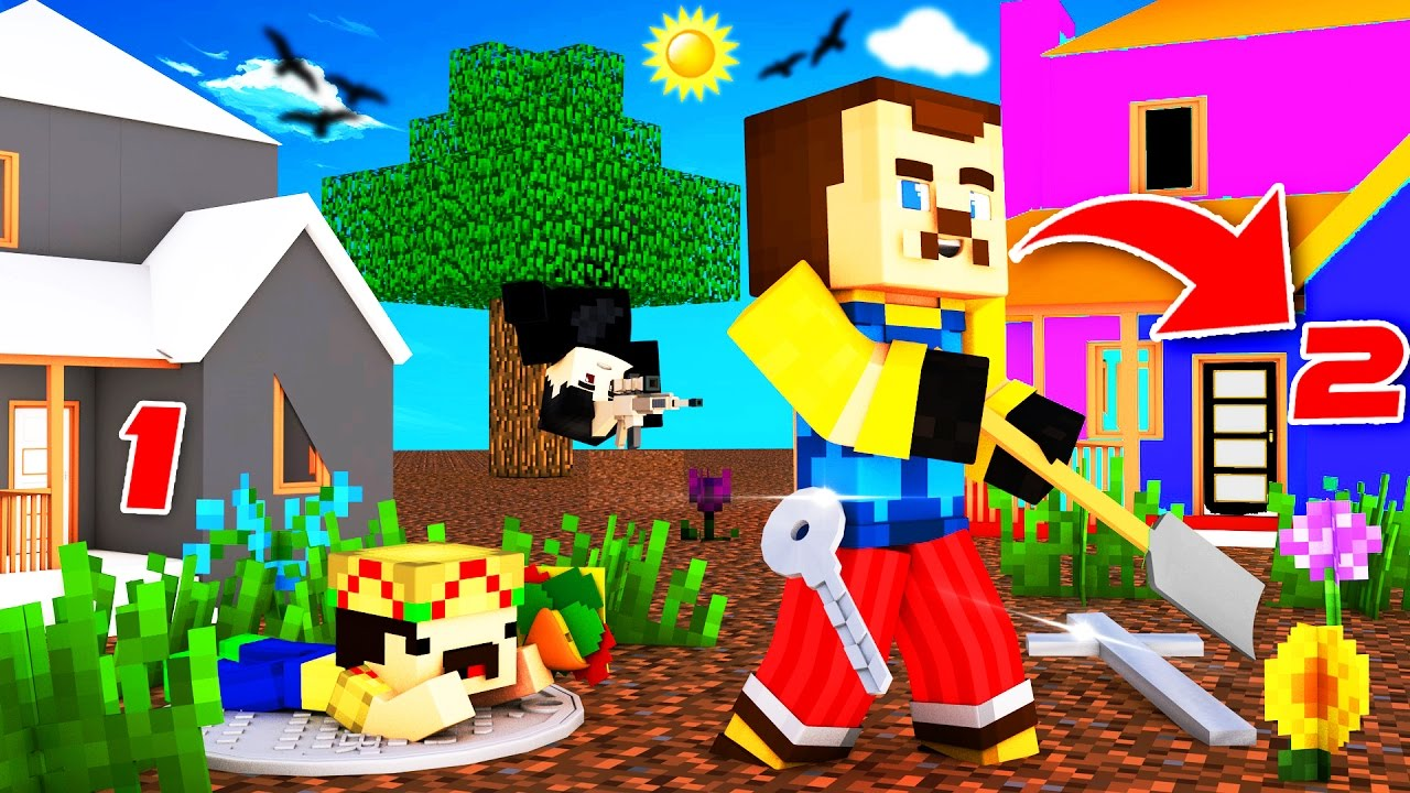 Minecraft - HELLO NEIGHBOR - SECRET SECOND HOUSE?! - YouTube