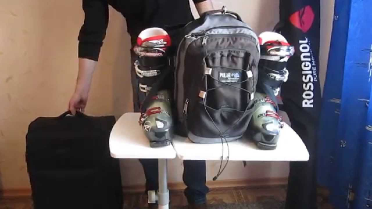 Mount To A Backpack For Ski Boots Or Rollers Youtube