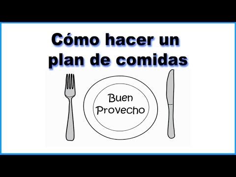 Plan de alimentación de 6 semanas