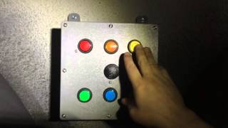 Color push button game