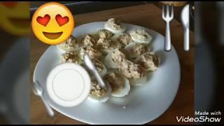 Яйца фаршированные тунцом и сыром Только правильное питание