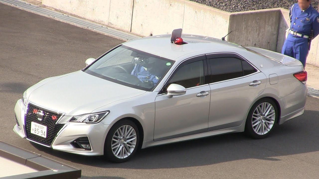 【ライジングサン】屋根がパッカーン!これが房総の日の出じゃい! おはよう赤色灯 千葉県警 高速隊 銀 210系 アスリート 覆面 パトカー Unmarked Cop Car TOYOTA CROWN
