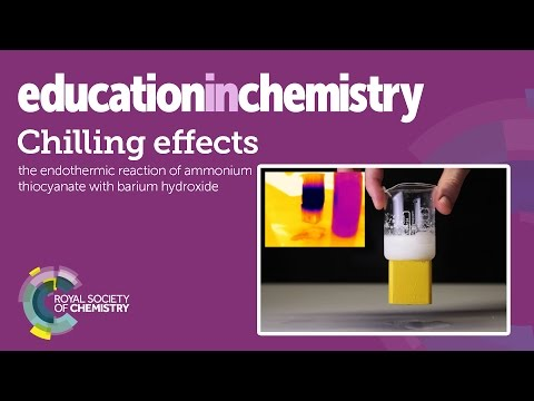 Chilling effects – a spontaneous endothermic demonstration