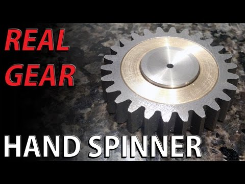 Thumbnail: REAL GEAR Hand spinner fidget toy steel and BRONZE