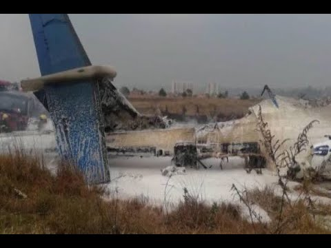 US-Bangla airline crashes at Kathmandu airport
