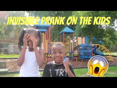 INVISIBLE PRANK ON THE KIDS (they cried)