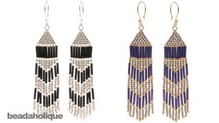 Repeat youtube video How to Make Brick Stitch and Fringe Beaded Earrings