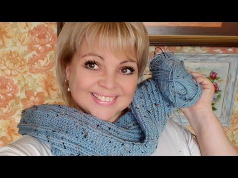 ШАРФ  из Alize Alpaka Tweed  #шарфспицами #AlizeAlpakaTweed