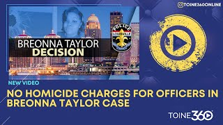 #BreakingNews NO HOMICIDE CHARGES in the case of #BreonnaTaylor.