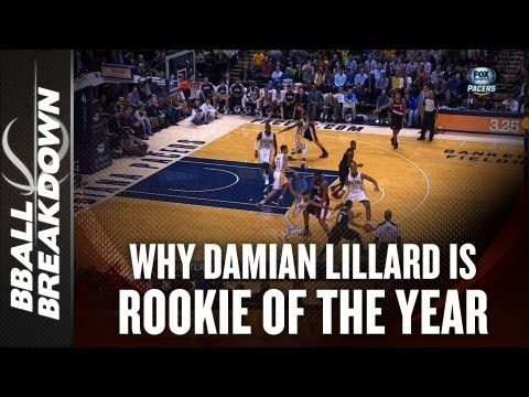 Why Damian Lillard is Rookie Of The Year - NBA 2012-13