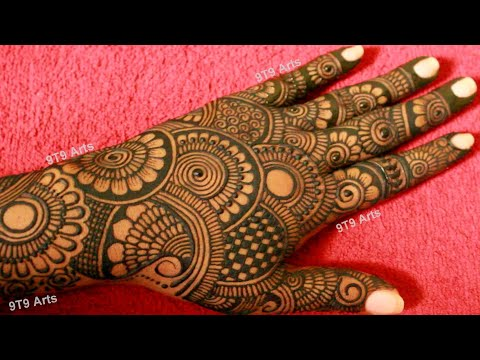 Wedding Special Floral Dulhan Mehndi Design Full Back Hand Mehndi Design Easy Bridal Mehndi Design Youtube