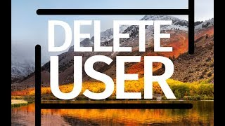 How to Delete a User account on macOS Sierra