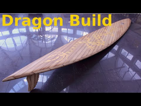 Building the 13'9' Dragon wooden surfboard