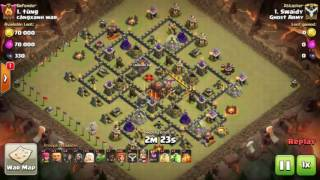 Clash of Clans | How to use valks and hogs to 3 star max bases | OP Th9 3 star strategy
