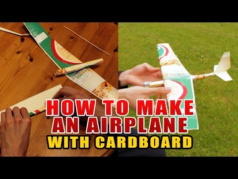 How to make an airplane with cardboard (glider)
