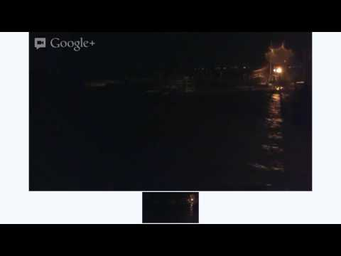 NOT LIVE Hurricane Sandy Webcam Boston Harbor Winthrop MA (no sound)