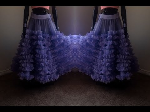 How to Make Designer Ruffled DIY Skirt | Zip Method |