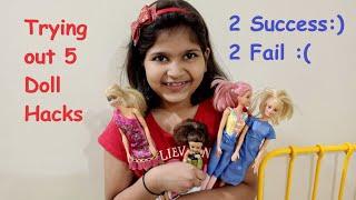 Testing 5 Minute Crafts Doll Hacks - Part 2 || Barbie Hacks || Doll Hacks