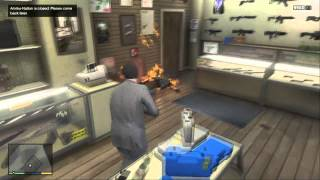 gta 5 robbing ammu nation suburban and a hairdressers